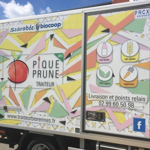 traiteur bio rennes camion pique prune